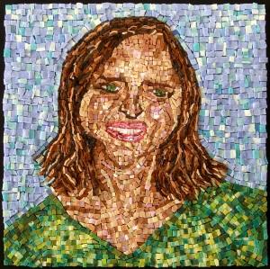 "mosaic, smalti glass, 12""x12"""
