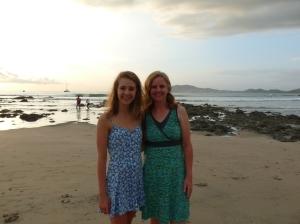 Maggie and I on Tamarindo beach, Costa Rica.