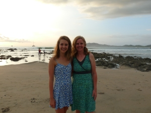 Maggie and I on Tamarindo beach, Costa Rica.