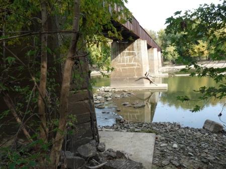 train trestle bridge over east fork of White River, Petersburg, Indiana