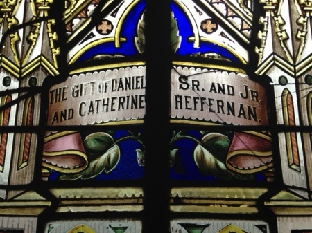 1890's window in St. Peter's Church, Montgomery Indiana