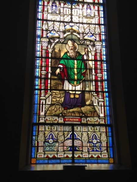 St. Patrick window, St. Peter's Church, Montgomery IN