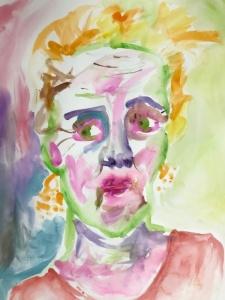 finger painted self portrait
